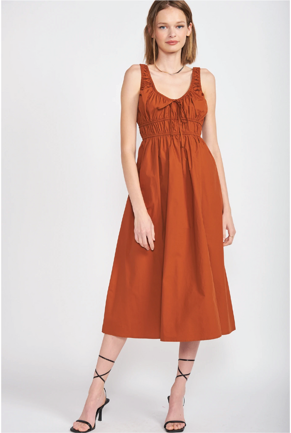 Aria Ruffle Dress - Navy - Tucker Brown
