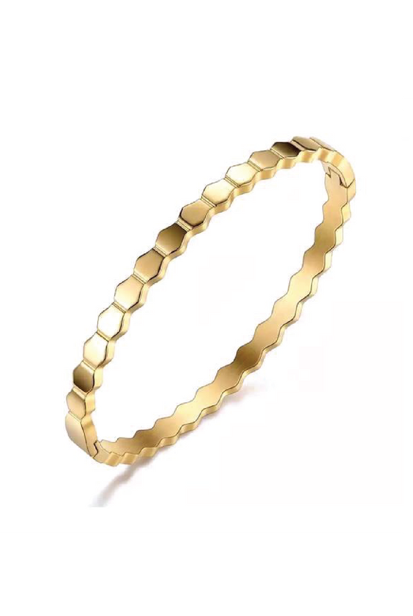 Honeycomb Bracelet - Gold - Tucker Brown