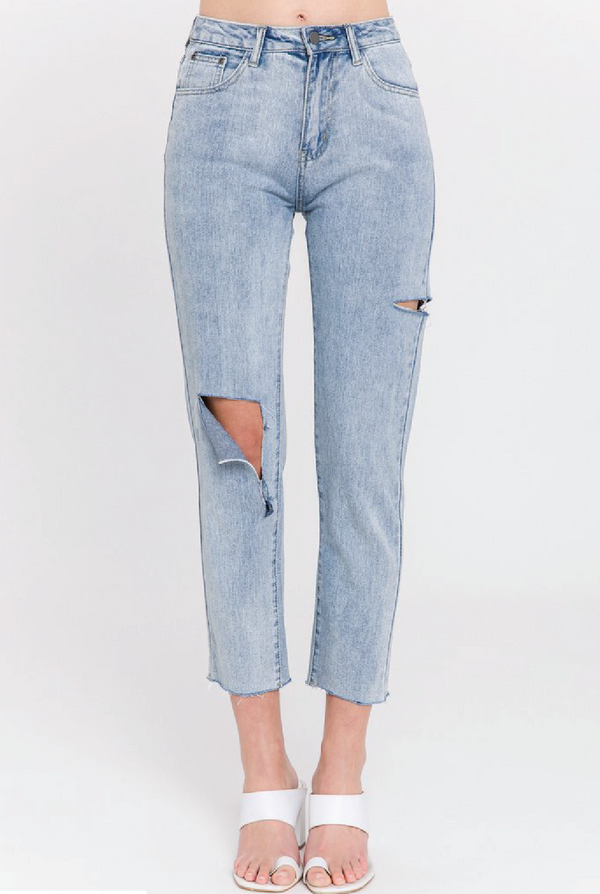 Jade High Waisted Jeans - Tucker Brown