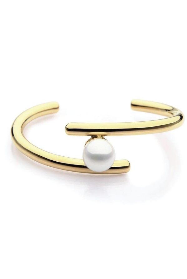 Sophia Pearl Cuff - Gold - Tucker Brown
