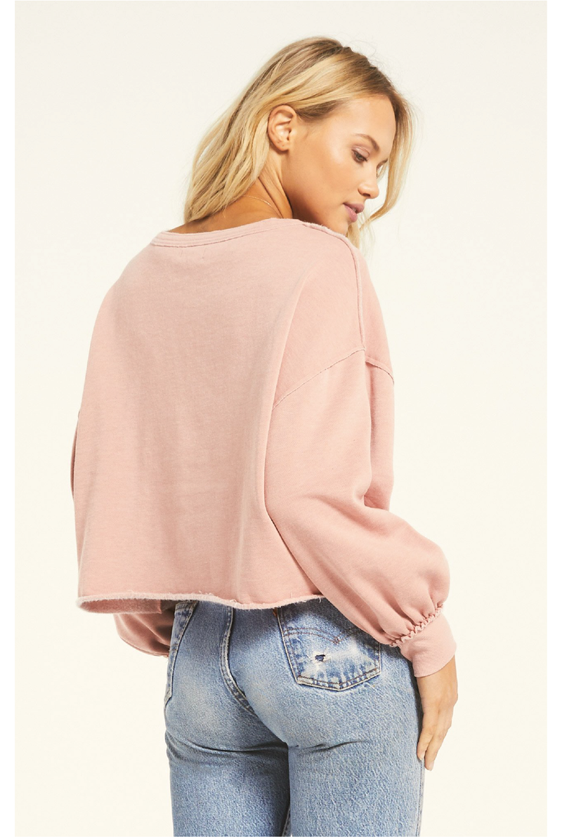 The Tempest Sweatshirt - Pale Pink - Tucker Brown