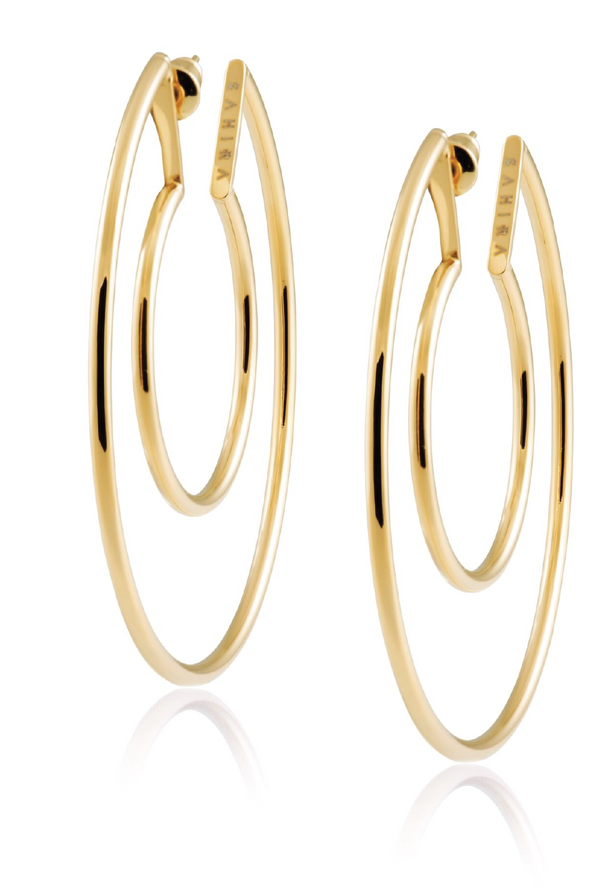 Faye Cutout Hoop - Gold - Tucker Brown