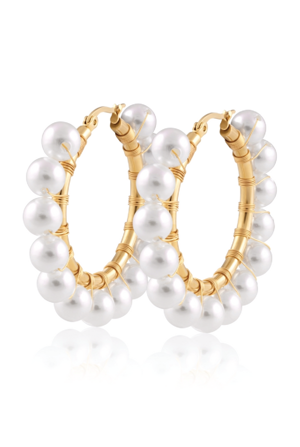 Callie Pearl Hoops - Tucker Brown