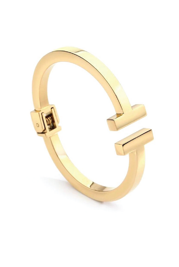 Sadie T Cuff - Gold - Tucker Brown