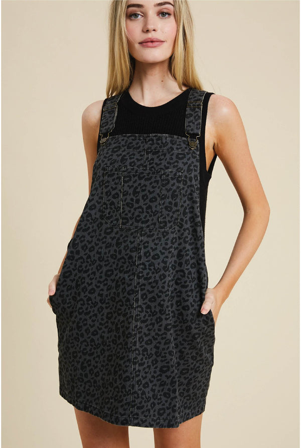 Panther Overall Dress - Tucker Brown