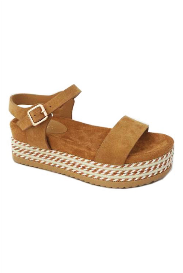 Cara Espadrille Wedge - Brown - Tucker Brown