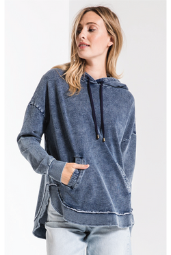 The Knit Denim Dakota Pullover - Navy - Tucker Brown