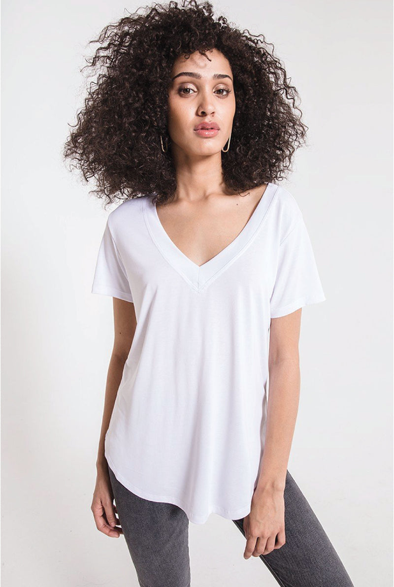 The Lux Modal Deep V Neck Tee
