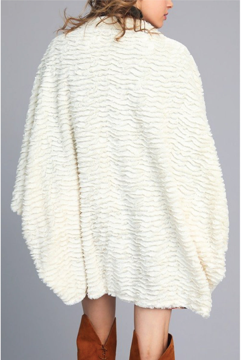 Faux Fur Wrap - Ivory - Tucker Brown