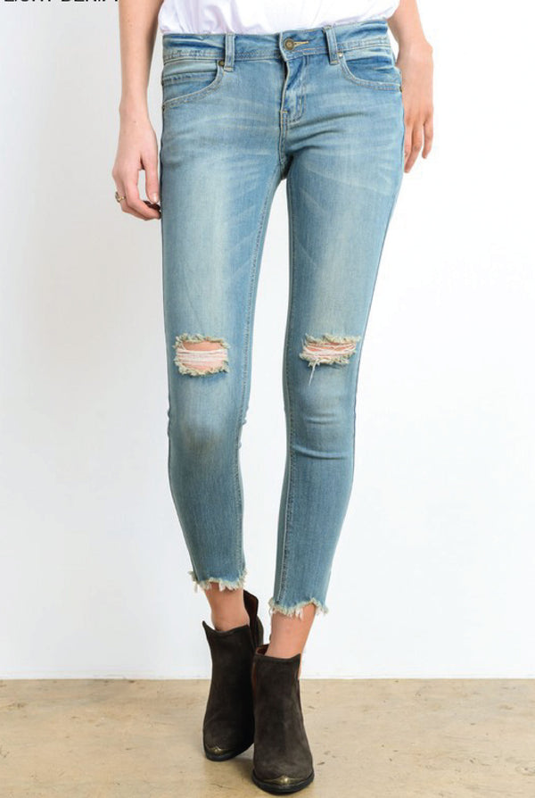 Destroyed Tears Skinny Jeans