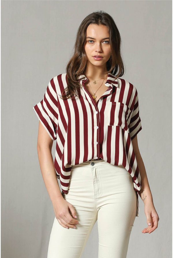 Wine Not Stripe Top