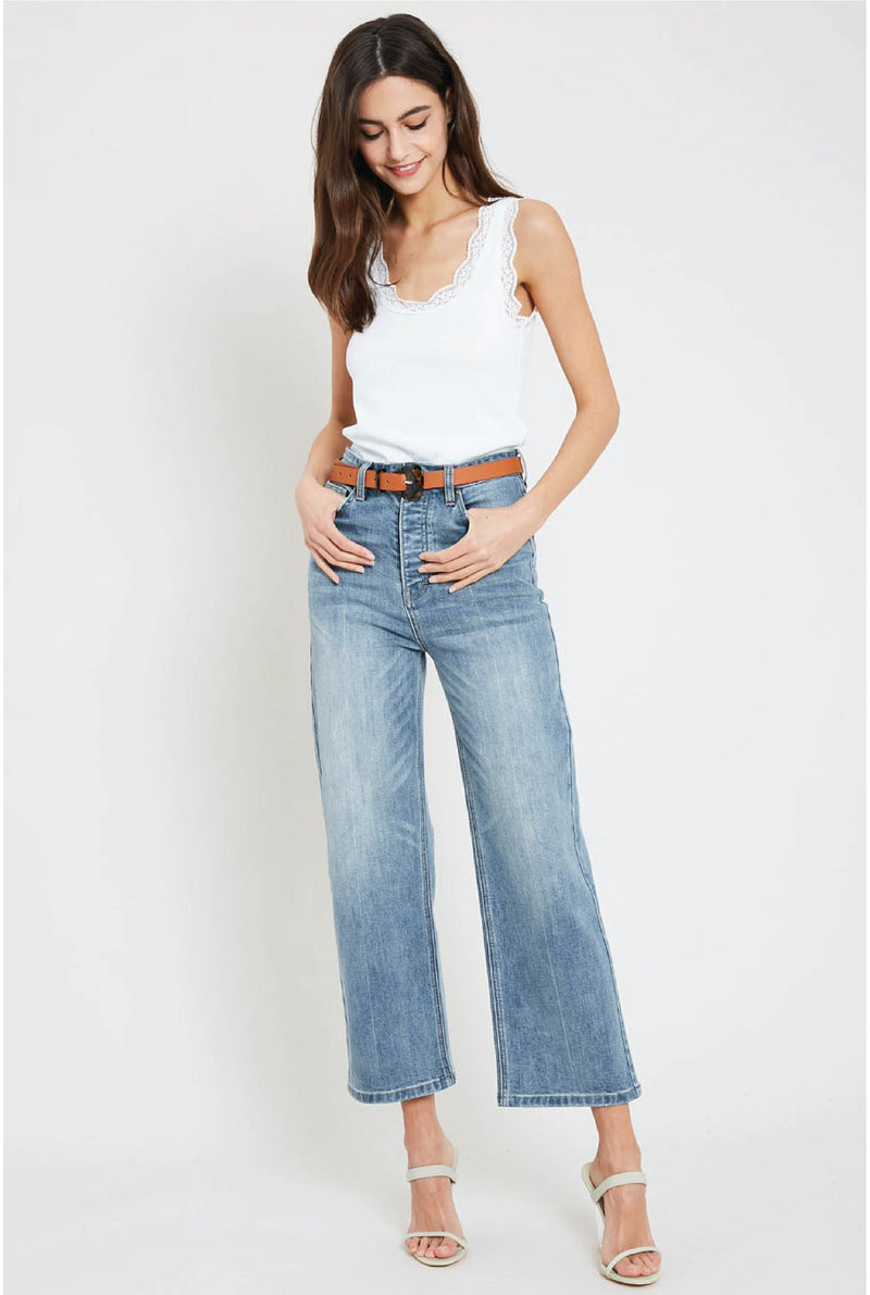 Bianca High Rise Jeans - Light Denim - Tucker Brown