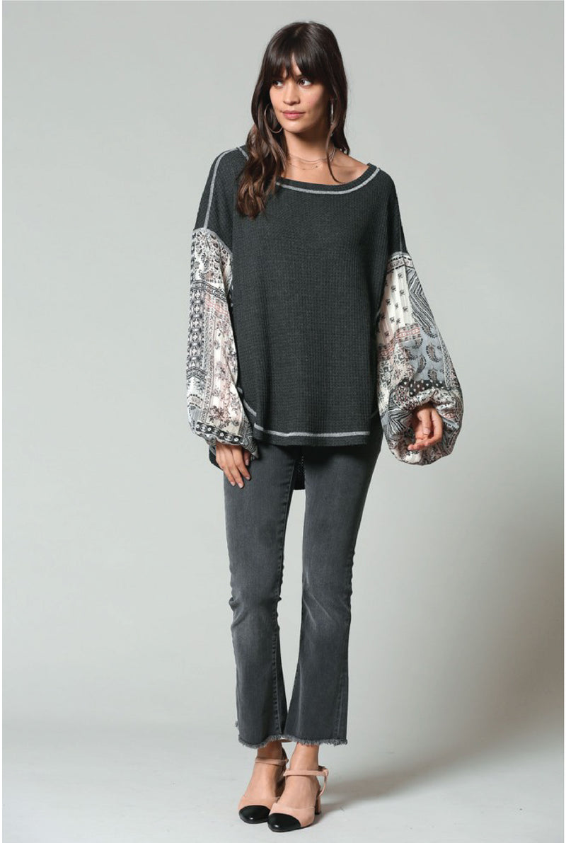 Chalk Dust Dreams Bell Sleeve Top