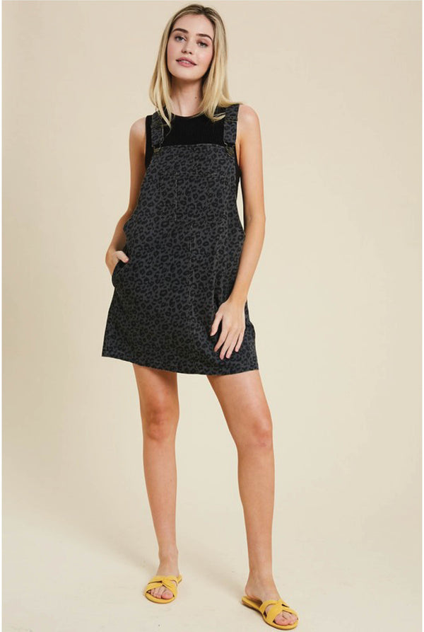 Panther Overall Dress - Charcoal - Tucker Brown