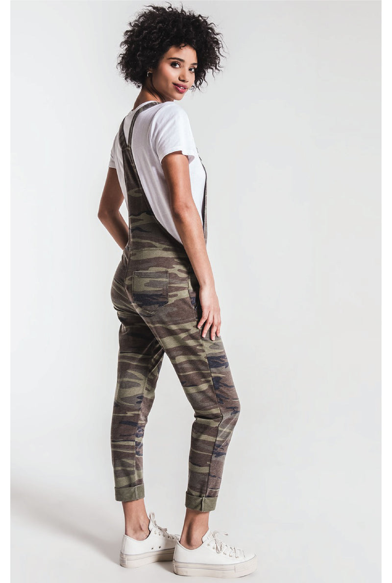 Z Supply - The Camo Overalls - Camo Green - Tucker Brown