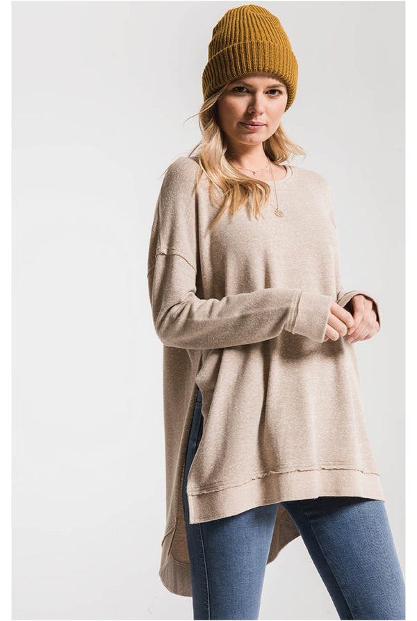 Triblend Vacay Pullover - Taupe - Tucker Brown