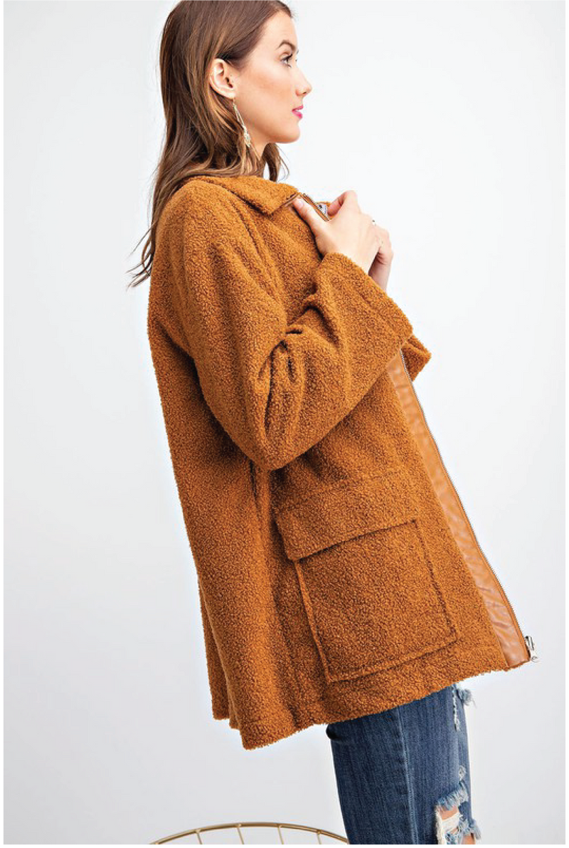 Tru Fur Jacket - Camel - Tucker Brown
