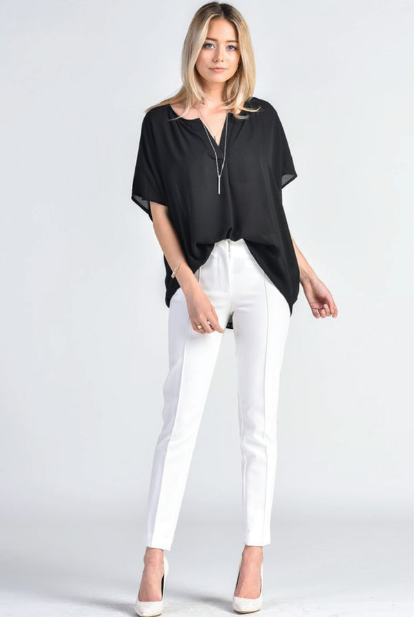 Dazed Nights Top - Black - Tucker Brown