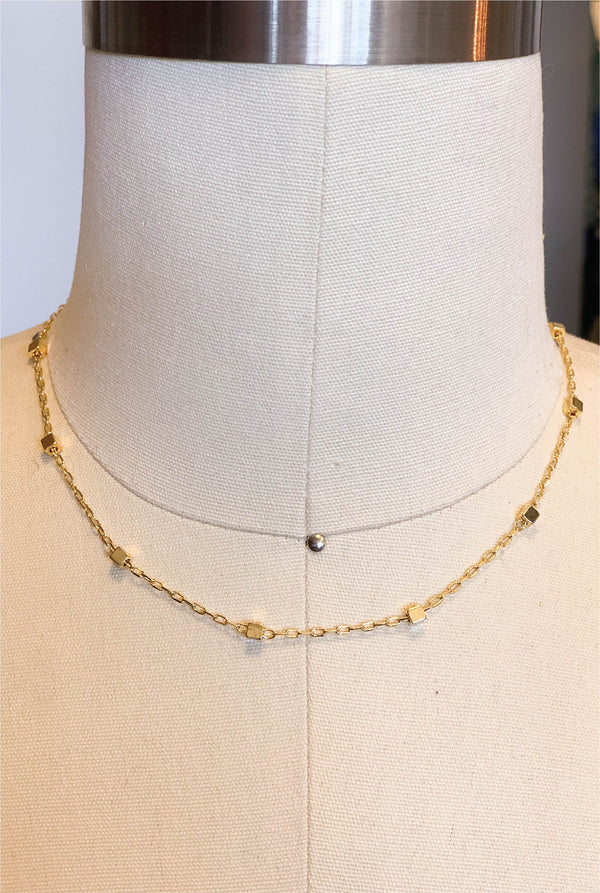 Simple Choker - Gold - Tucker Brown