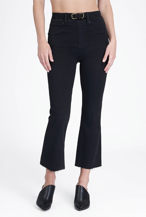 The Cropped Flare Pant - Black - Tucker Brown
