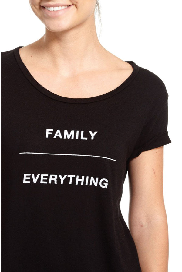 Family Over Everything Tee - Black - Tucker Brown