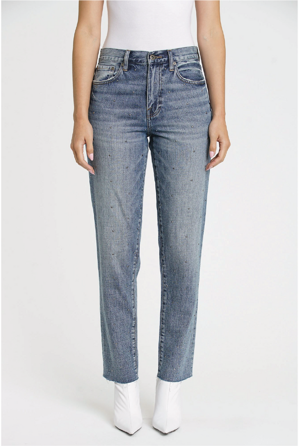 Rock Steady Boyfriend Jean - Denim - Tucker Brown