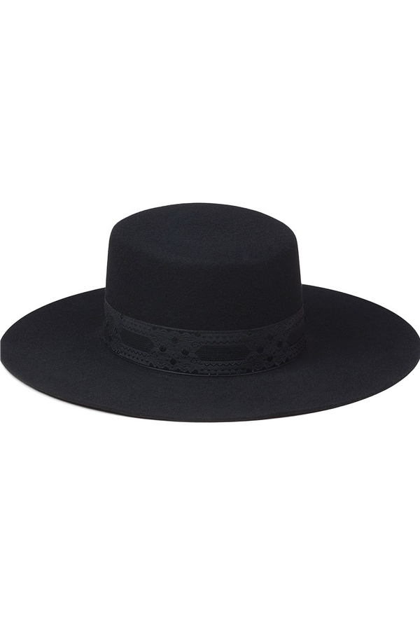 The Sierra Boater Hat - Black