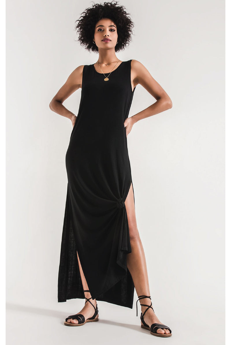 High Slit Maxi - Black - Tucker Brown