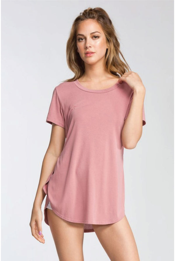 Baby Went Basic Tee - Dusty Pink - Tucker Brown