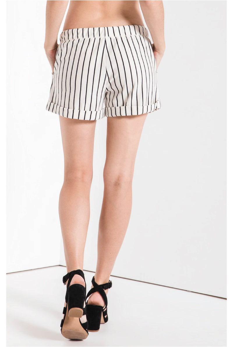 The Pinstripe Boyfriend Short