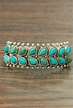 Dragonfly Cuff Bracelet - Turquoise - Tucker Brown