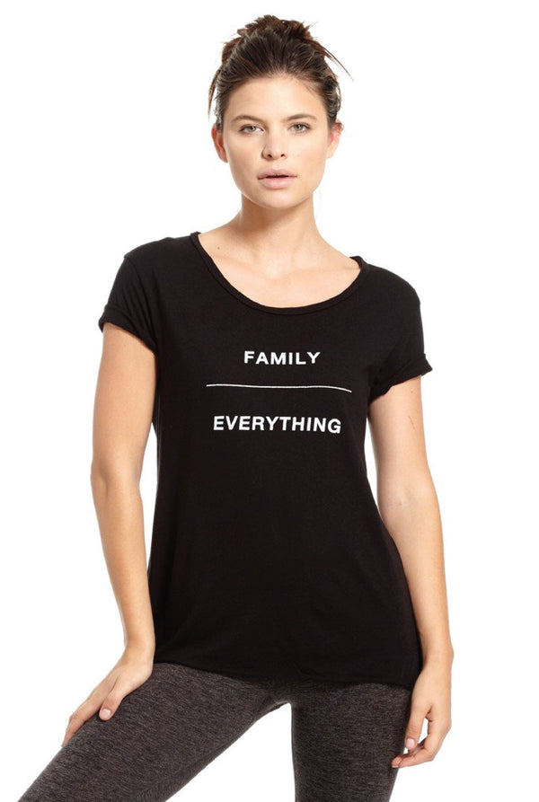 Family Over Everything Tee - Tucker Brown