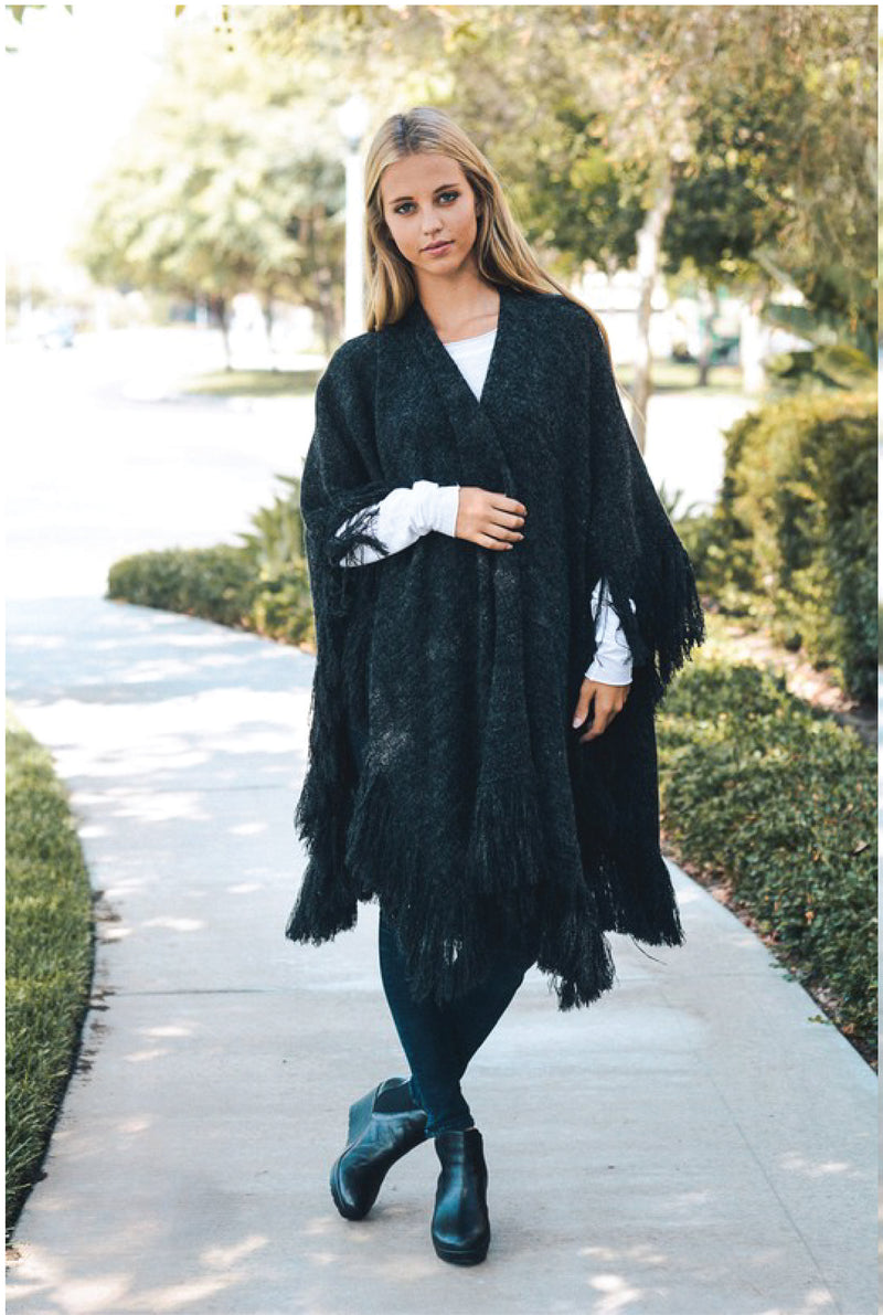 Heather Fringe Wrap