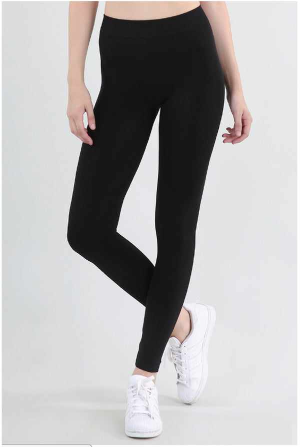 Niki Biki Ankle Length Leggings - Black - Tucker Brown