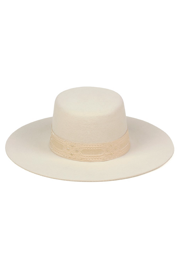 The Sierra Boater Hat - Ivory - Tucker Brown