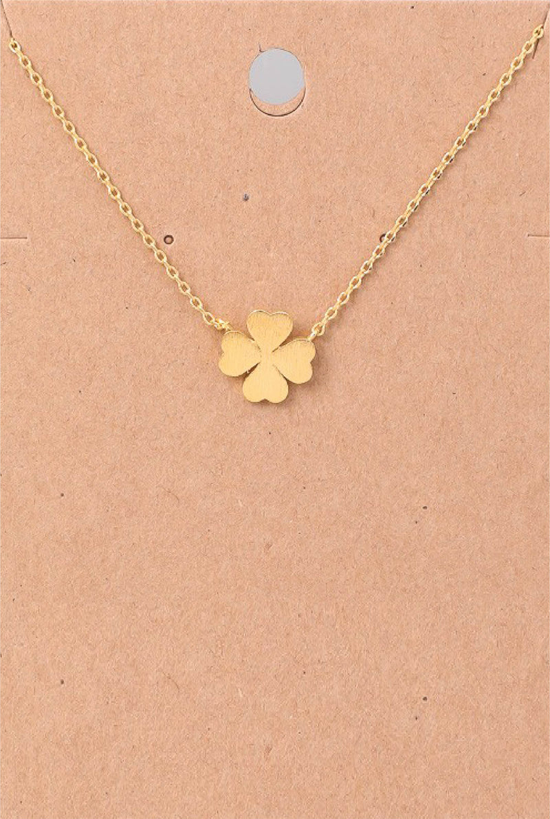 Dainty Four Leaf Clover Necklace