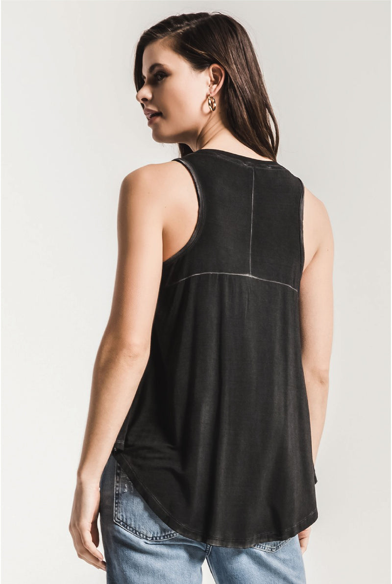 The Vagabond Tank - Charcoal - Tucker Brown