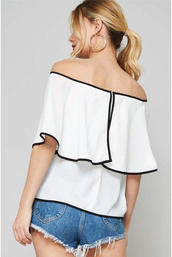 Across the Horizon Top - White - Tucker Brown