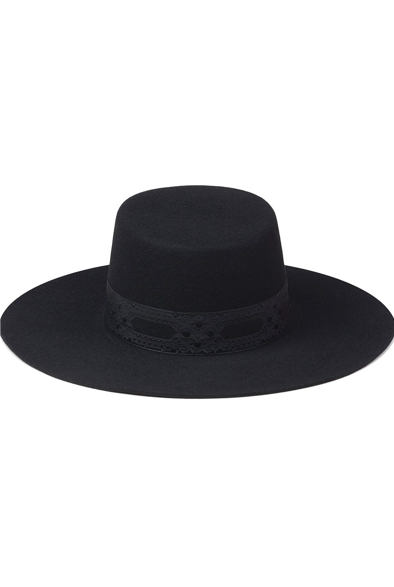 The Sierra Boater Hat - Black - Tucker Brown