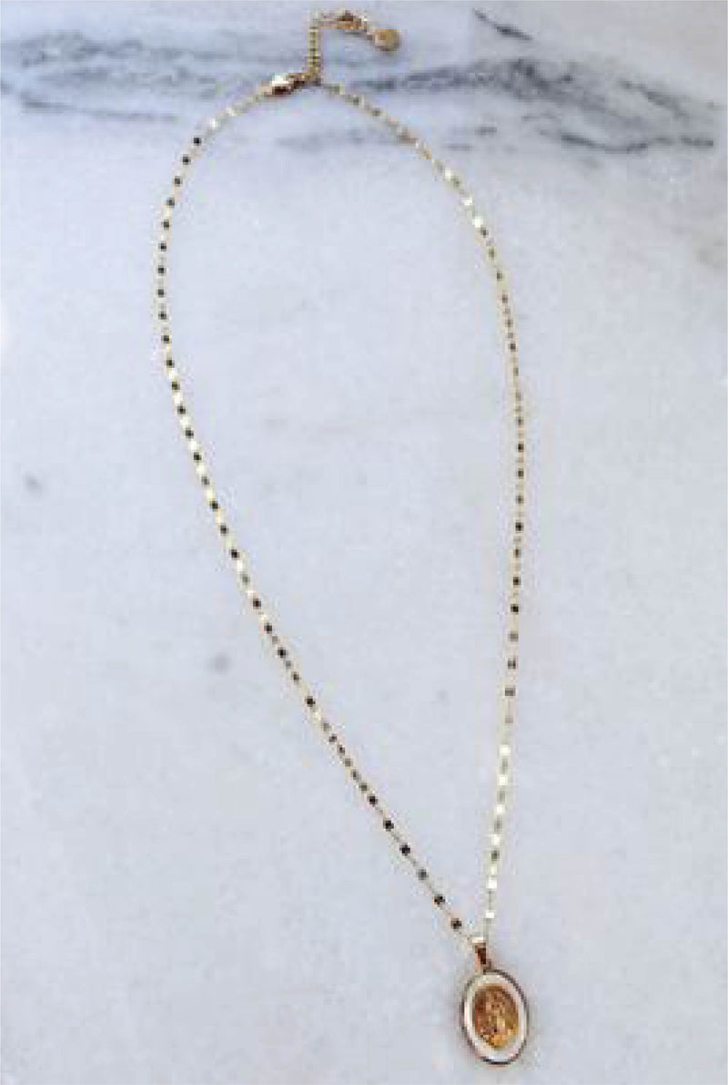 Perle Madonna Necklace - Tucker Brown