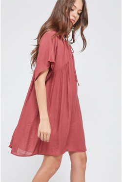 Liana Shift Dress -- Brick - Tucker Brown