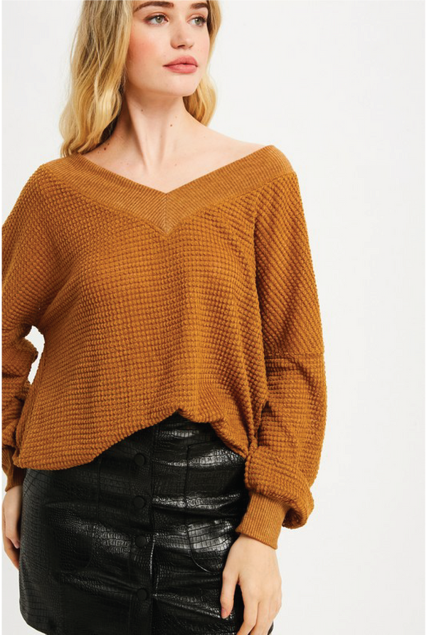 Young Spirit Thermal Top - Mustard - Tucker Brown