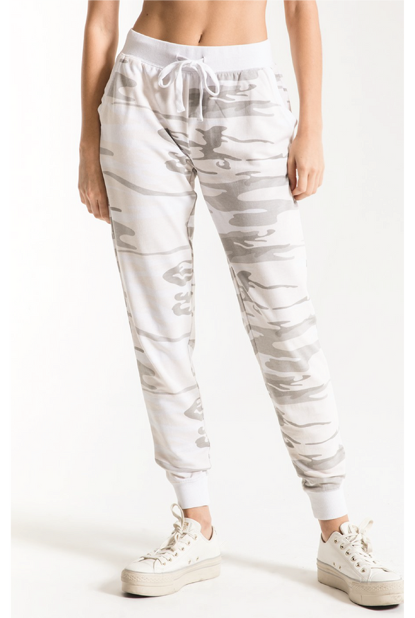 The Camo Jogger - White - Tucker Brown