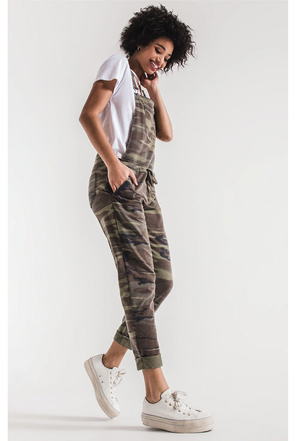The Camo Overalls - Camo Green - Tucker Brown