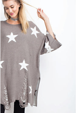 Starry Eyed Sweater - Tucker Brown