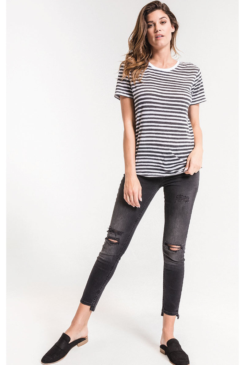 The Ultimate Striped Tee - Tucker Brown