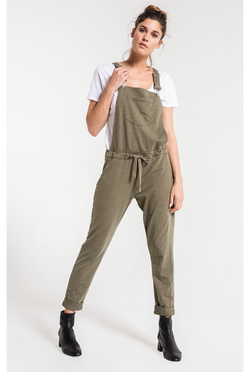 The All Over You Overalls - Olive - Tucker Brown