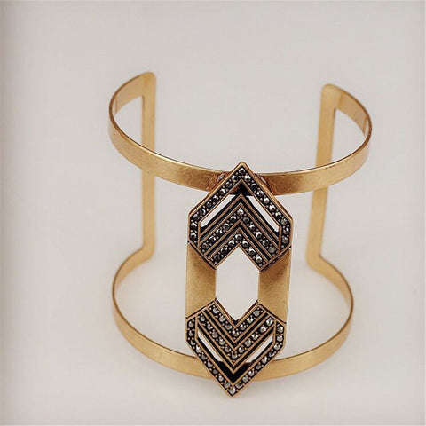 Boho Copper Geometric Cuff Bangle