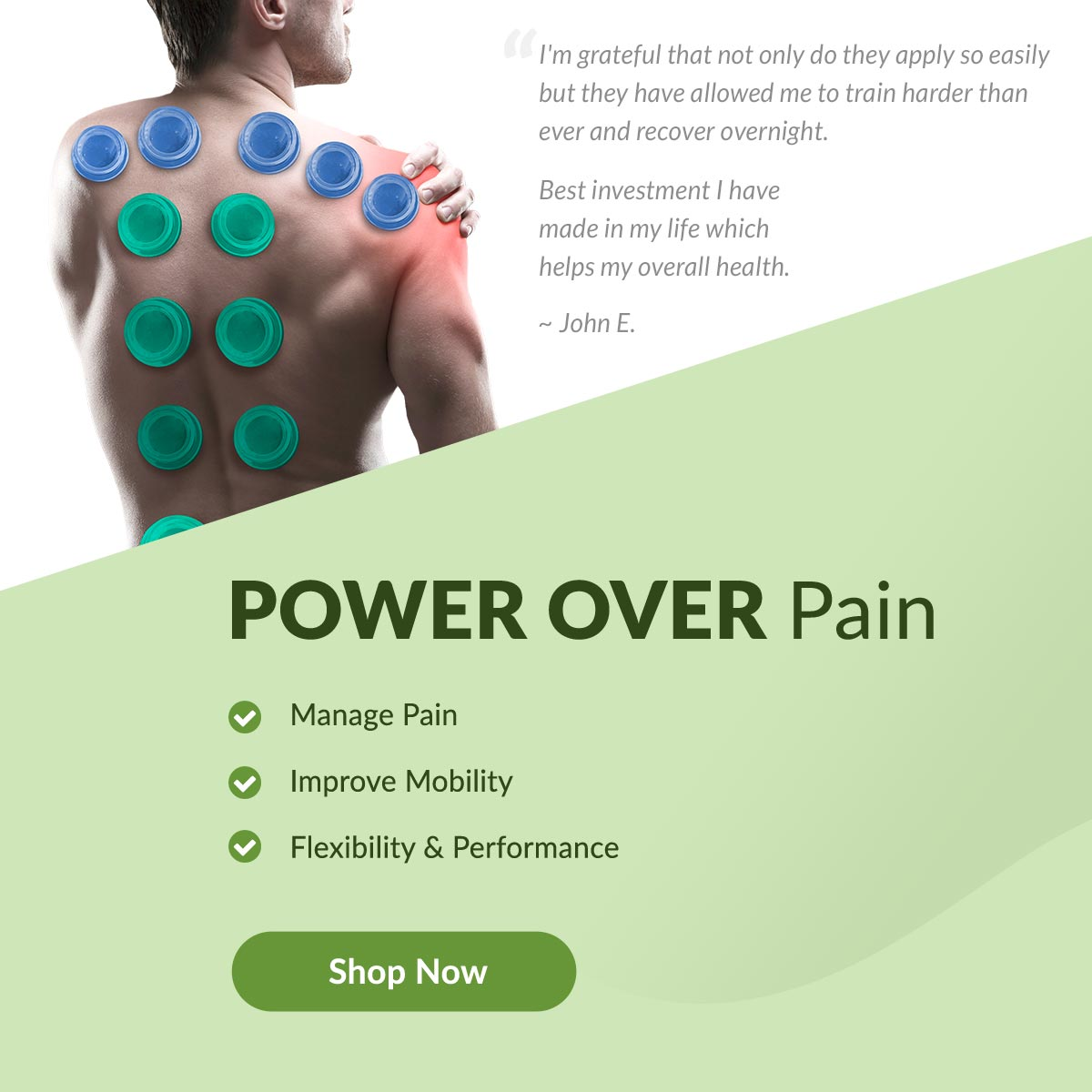Man doing cupping therapy - Power Over Pain