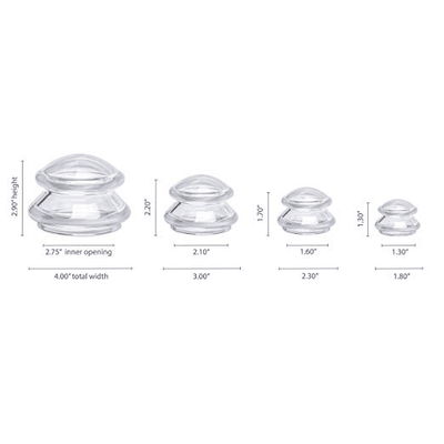 EDGE™ Cupping Set of 4 - Clear - Lure Essentials